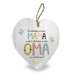 Oma - Baby collectie  Hartje in Porselein 15 x 1 x 15 cm
