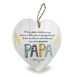 Papa - Baby collectie  Hartje in Porselein 15 x 1 x 15 cm