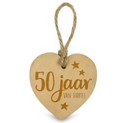 50 jaar   - Houten Engeltje met Koordje     15 x 2.5 x 20 cm   € 1.99