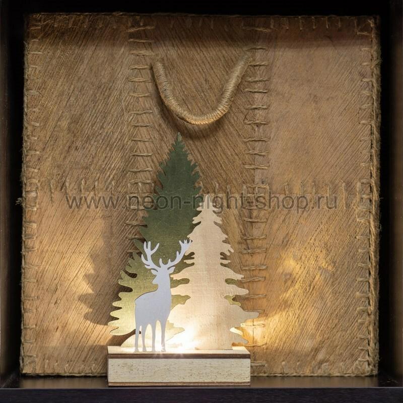 Фигура дерев. с подсветкой