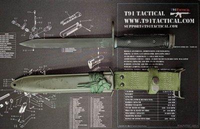 T91, T65K2 Bayonet / Scabbard New