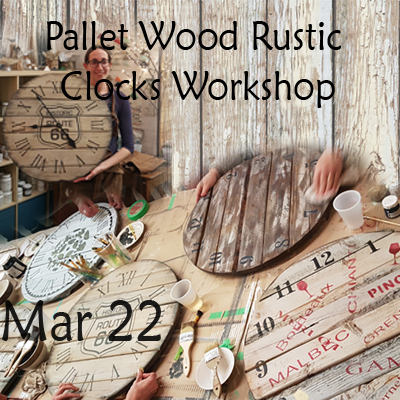 Rustic Farmhouse Clock Workshop - Mar 22