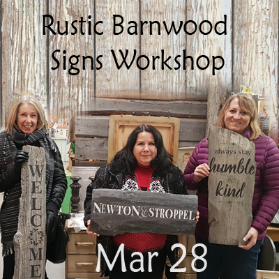 Rustic Barnwood Signs Mar 28
