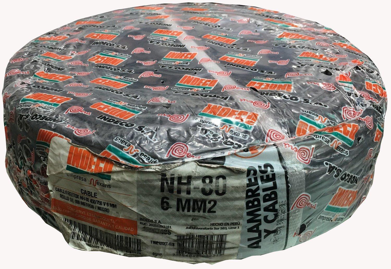 Cable NH80 6mm2 indeco negro libre de halogenos