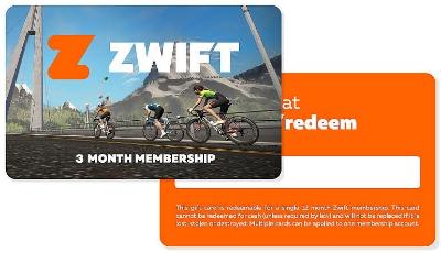 Zwift Gift Card 3 of 12maanden