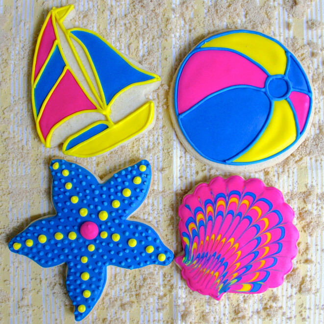 'Summer Fun Decorating Workshop - FRIDAY, JUNE 12th at 6:30 p.m. (THE COOKIE DECORATING STUDIO)
