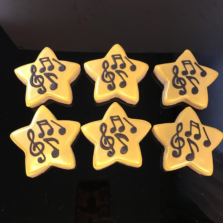 MUSIC GOLD STAR SET (1/2 DOZEN)