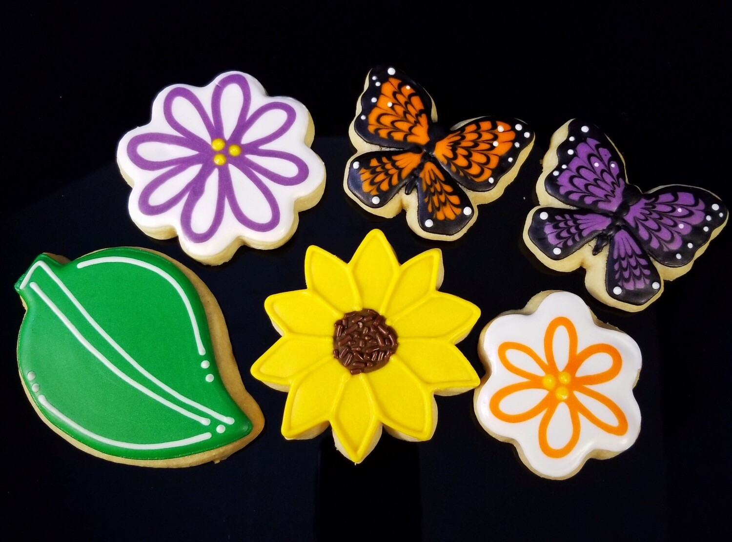 BUTTERFLY & FLOWER SET (1/2 DOZEN)