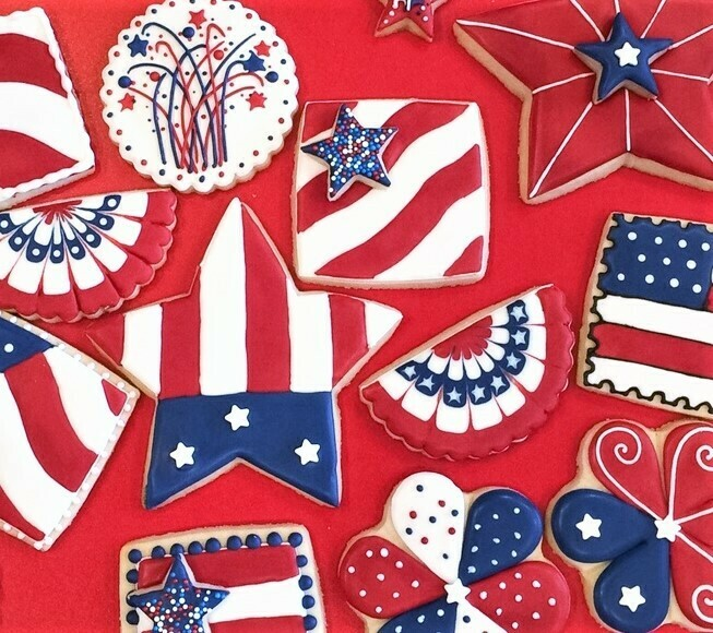 'USA Decorating Workshop - FRIDAY, JULY 3rd at 7:00 p.m. (THE COOKIE DECORATING STUDIO)