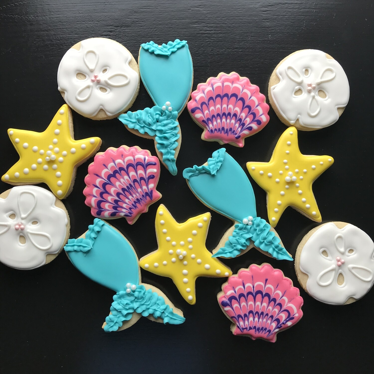 'Mermaid Decorating Workshop - THURSDAY, JULY 2nd at 6:30 p.m. (THE COOKIE DECORATING STUDIO)