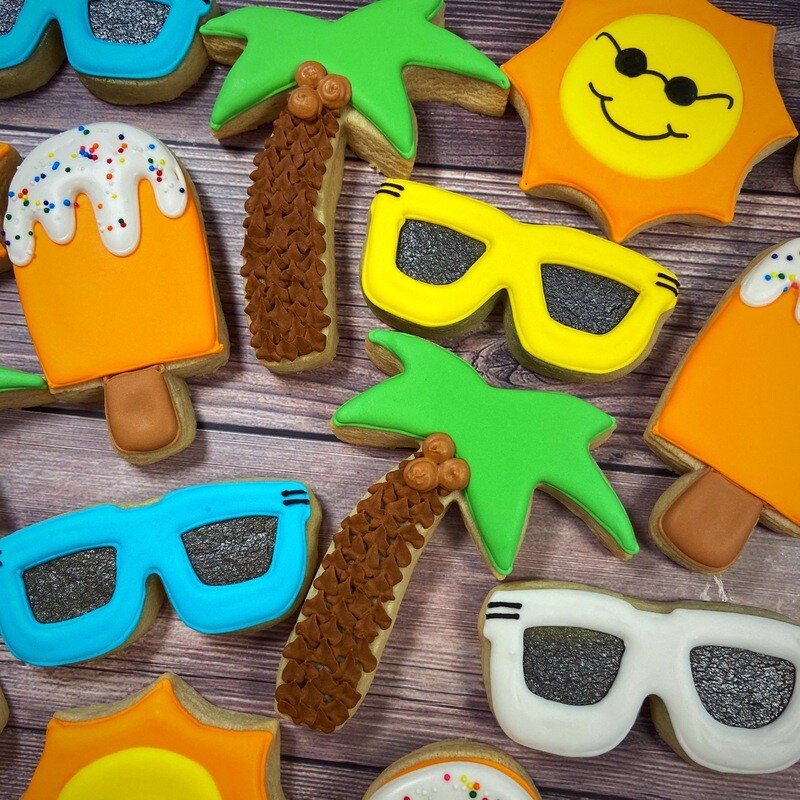 'Cool Shades Decorating Workshop - TUESDAY, JULY 14th at 2 p.m. (THE COOKIE DECORATING STUDIO)