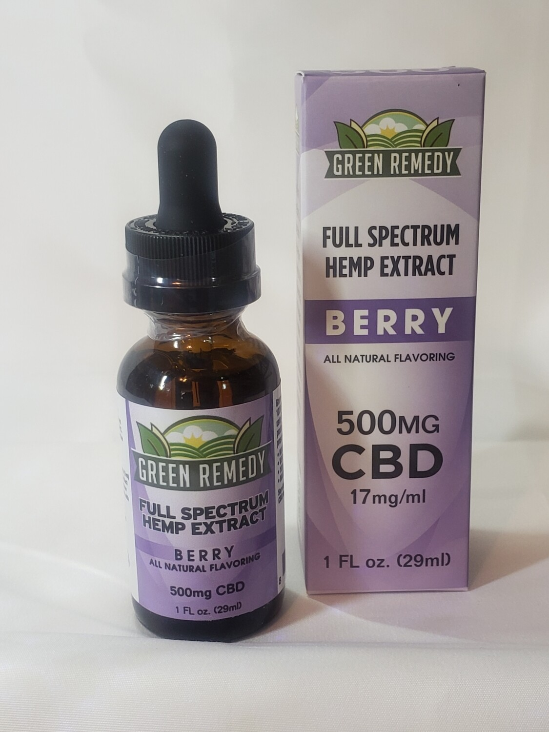 Green Remedy  Tincture 500 Mg. / Berry Berry Flavor