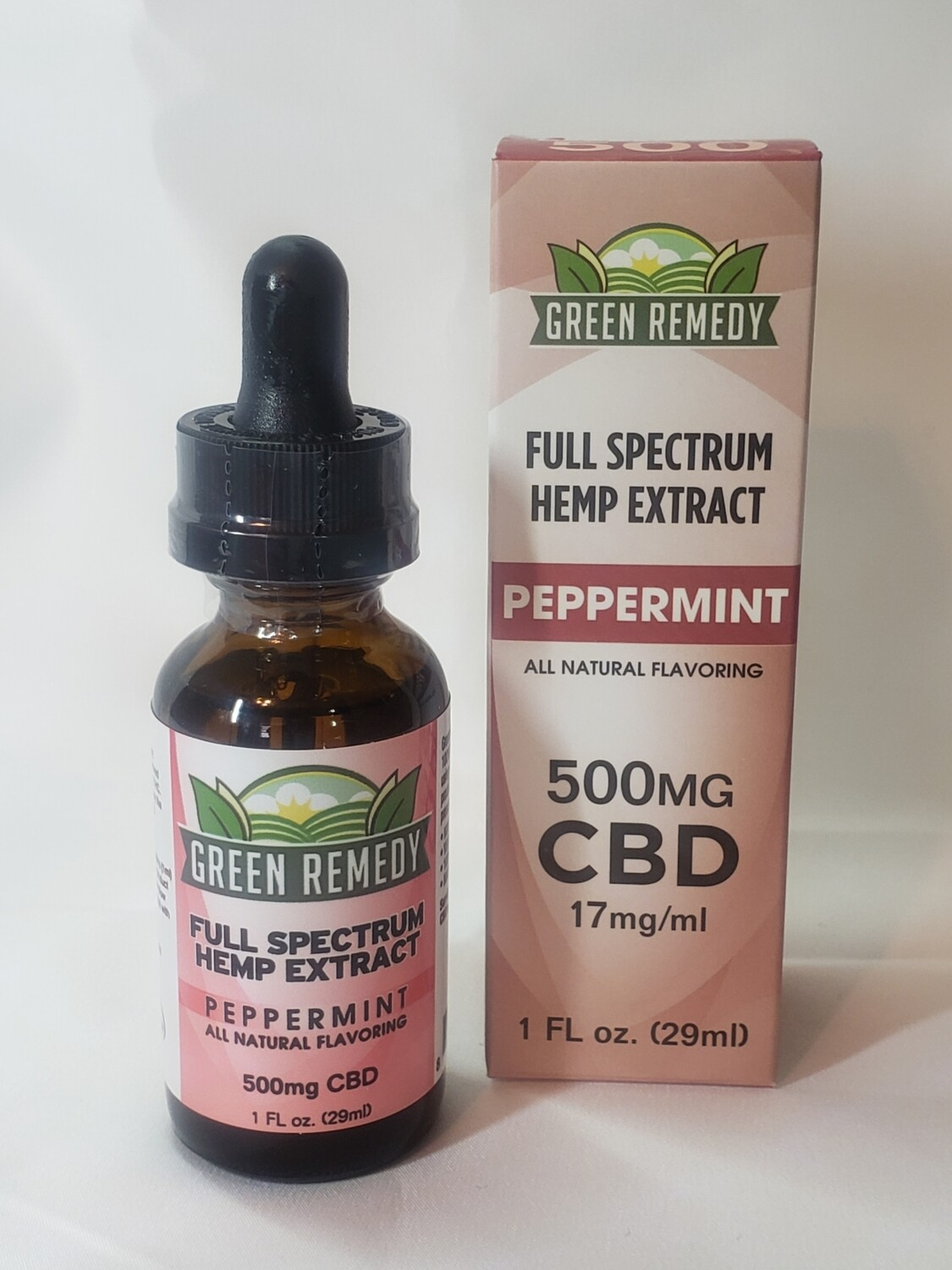 Green Remedy 500 Mg. Tincture / Peppermint Flavor