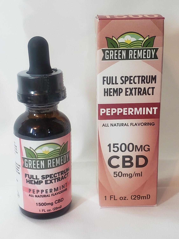 1500 Mg. Peppermint Hemp Extract