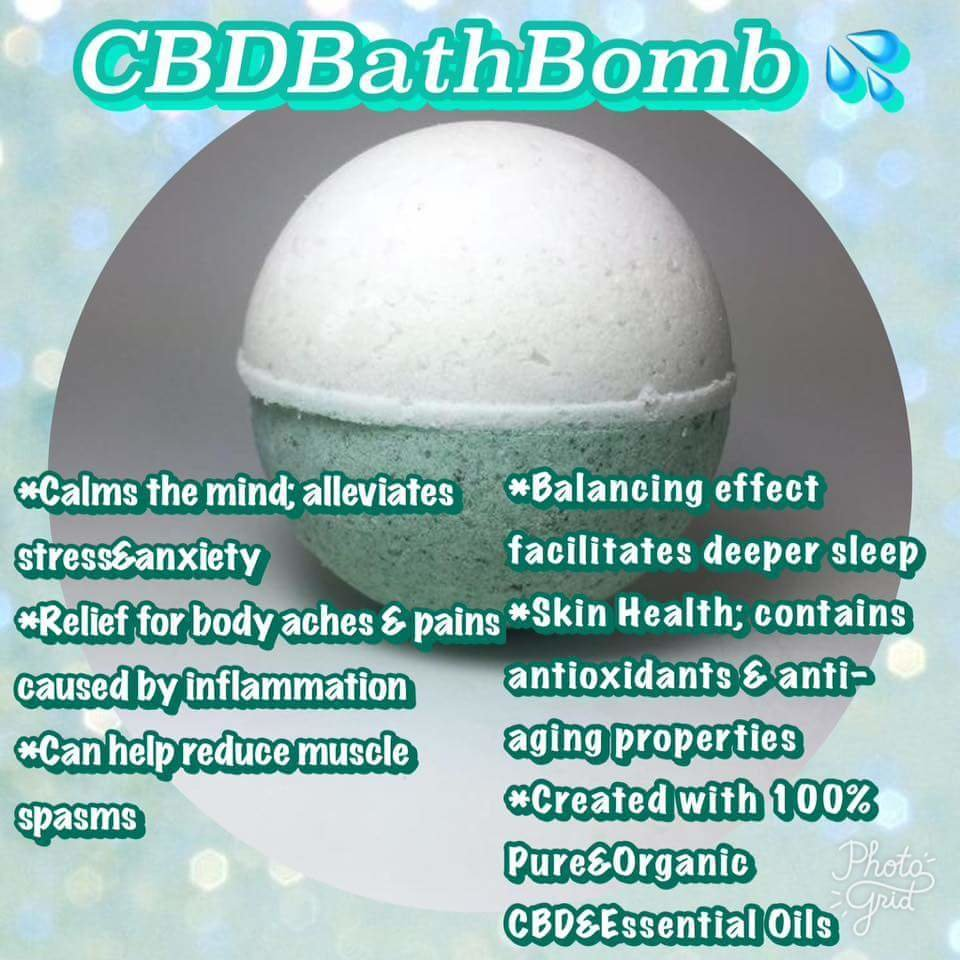 Assorted Organic Essential Oil Bomb Bath Bomb / ***Now with 80mg. Total Plant Hemp Extract