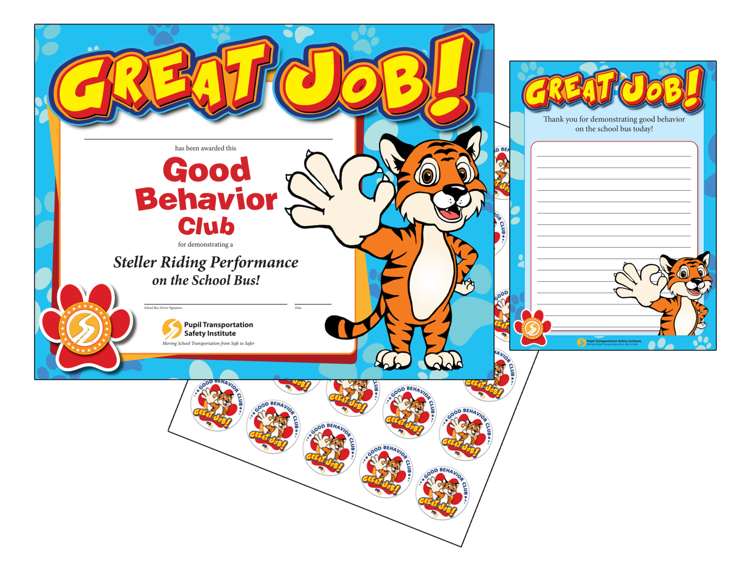 Good Behavior Packet with True the Tiger
