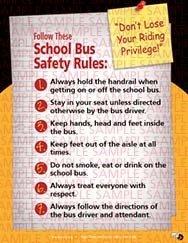 School Bus Safety Rules Sticker