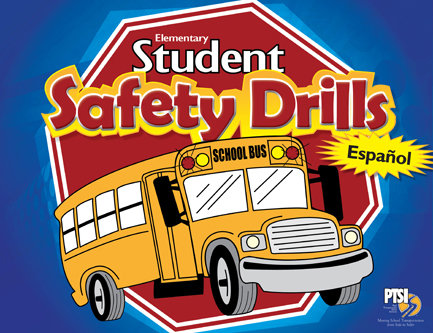 SPANISH VERSION Student Safety Drill Flip Chart for ELEMENTARY STUDENTS