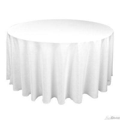 Round Banquet Table Extra Long White 120