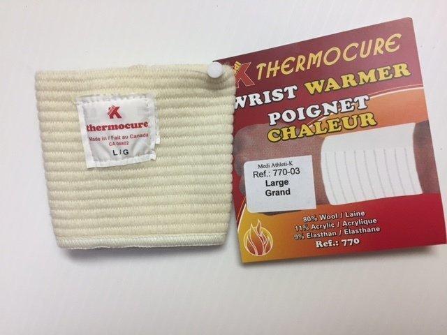 Wrist Warmer + Support  80% Wool