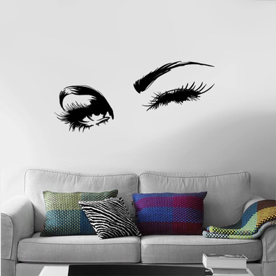 3D wall decor-eyelash beauty salon 3D decoration-beautiful Charming eyes Lashes Wink