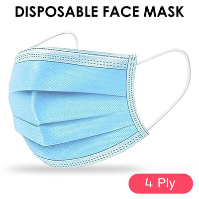 4-Ply Disposable Face Mask Anti-dust Tool For All People