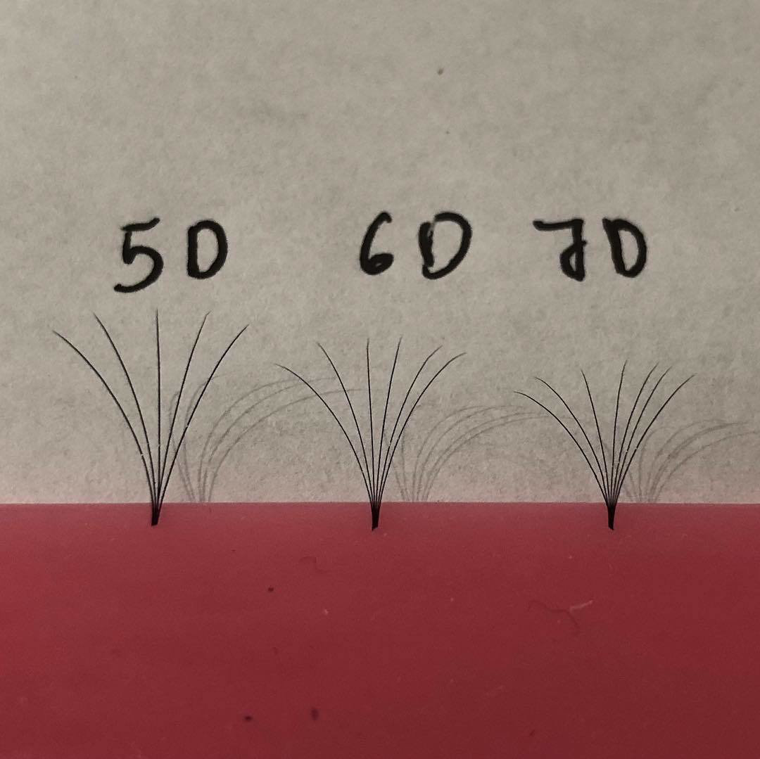 pre hand fans ( A Box of 500 Fans) 5D U (DD) curl 11mm 0.07