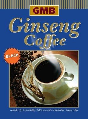 Ginseng Coffee Black, enkel koffie en ginseng.