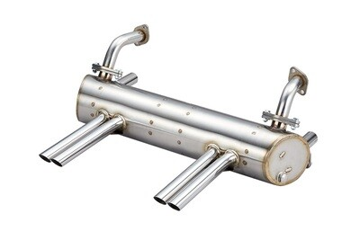 VW ABARTH STYLE EXHAUST FOR 25HP & 36HP, APRON WITH CUT OUTS