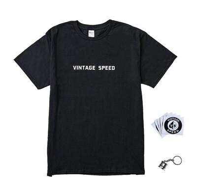 Vintagespeed Life Package (T-shirt,鑰匙圈,5張貼紙)