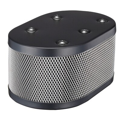 WEBER AIR FILTER BLACK POWDER COATED IDF AND DELLORTO CARBURETOR ( Black Housing + Silver Screen )