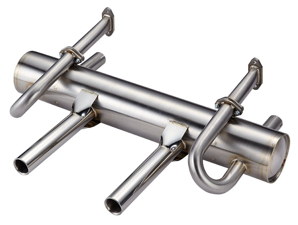 PORSCHE 912 SUPERFLOW EXHAUST SYSTEM, TWIN PIPES