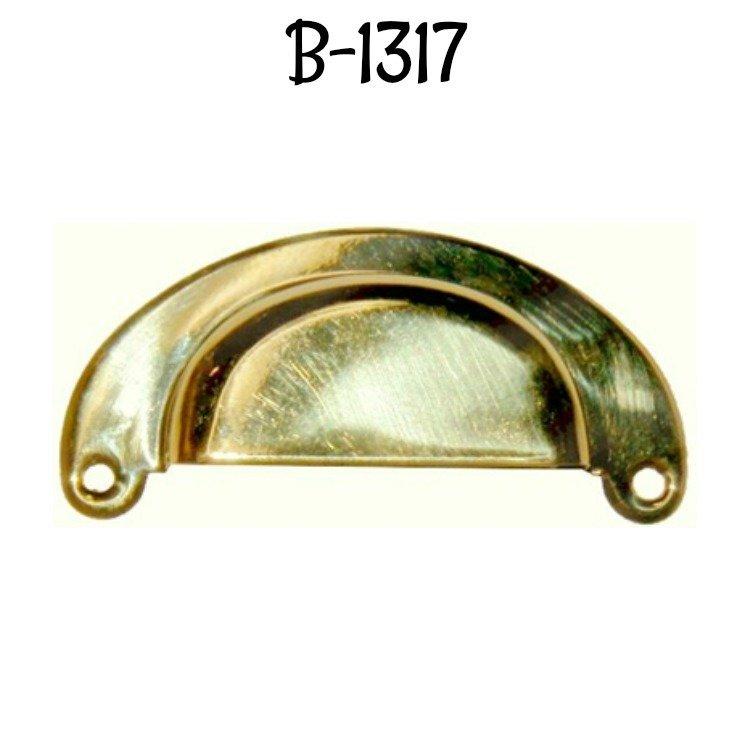 POLISHED BRASS PULL HANDLE HOOSIER  B1393