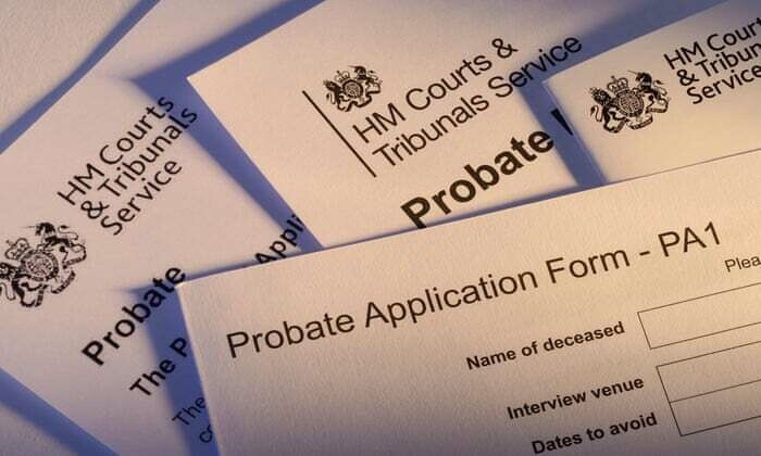 Probate tracing service