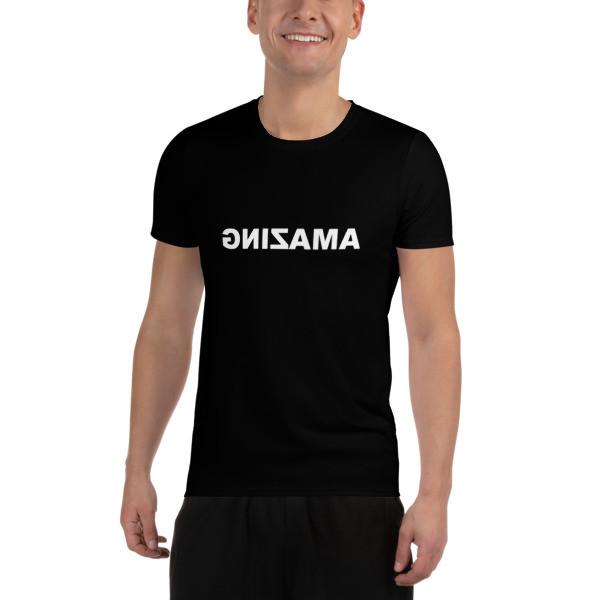 Men's Black Athletic T-Shirt (AMAZING)
