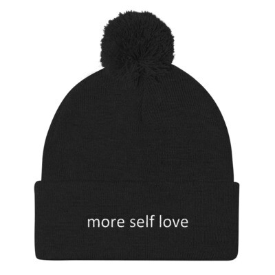 Pom Pom Knit Cap (more self love)