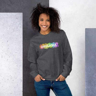 Unisex Crewneck Sweatshirt (AMAZING Rainbow)