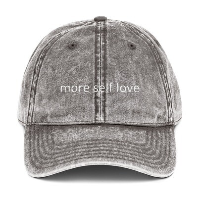 Vintage Cotton Twill Cap (more self love)