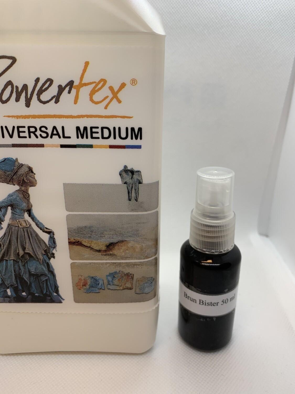 Material kit Powertex Ivory 0,5 kg + Bister brun 50 ml