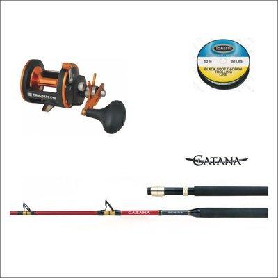 Combo TRAINA COSTIERA - Canna Catana 16 lb - Mulinello Meridian - Filo ignesti 30 lb