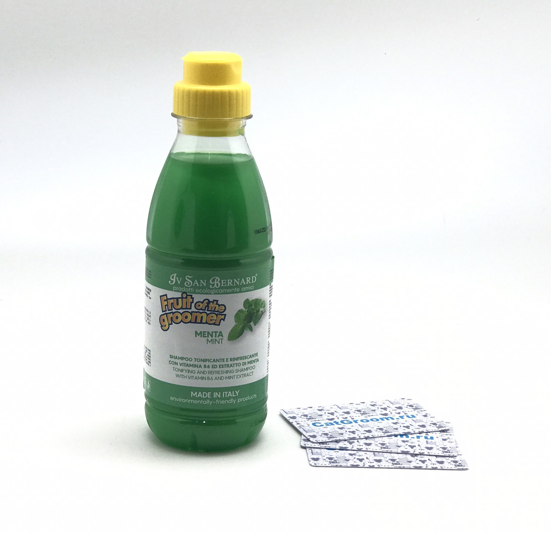ISB Fruit of the Groomer Mint Шампунь для любого типа шерсти с витамином В6 500 мл