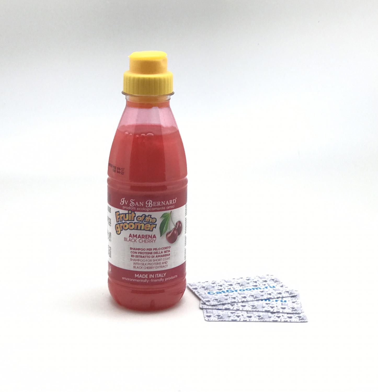 ISB Fruit of the Groomer Black Cherry Шампунь для короткой шерсти с протеинами шелка 500 мл