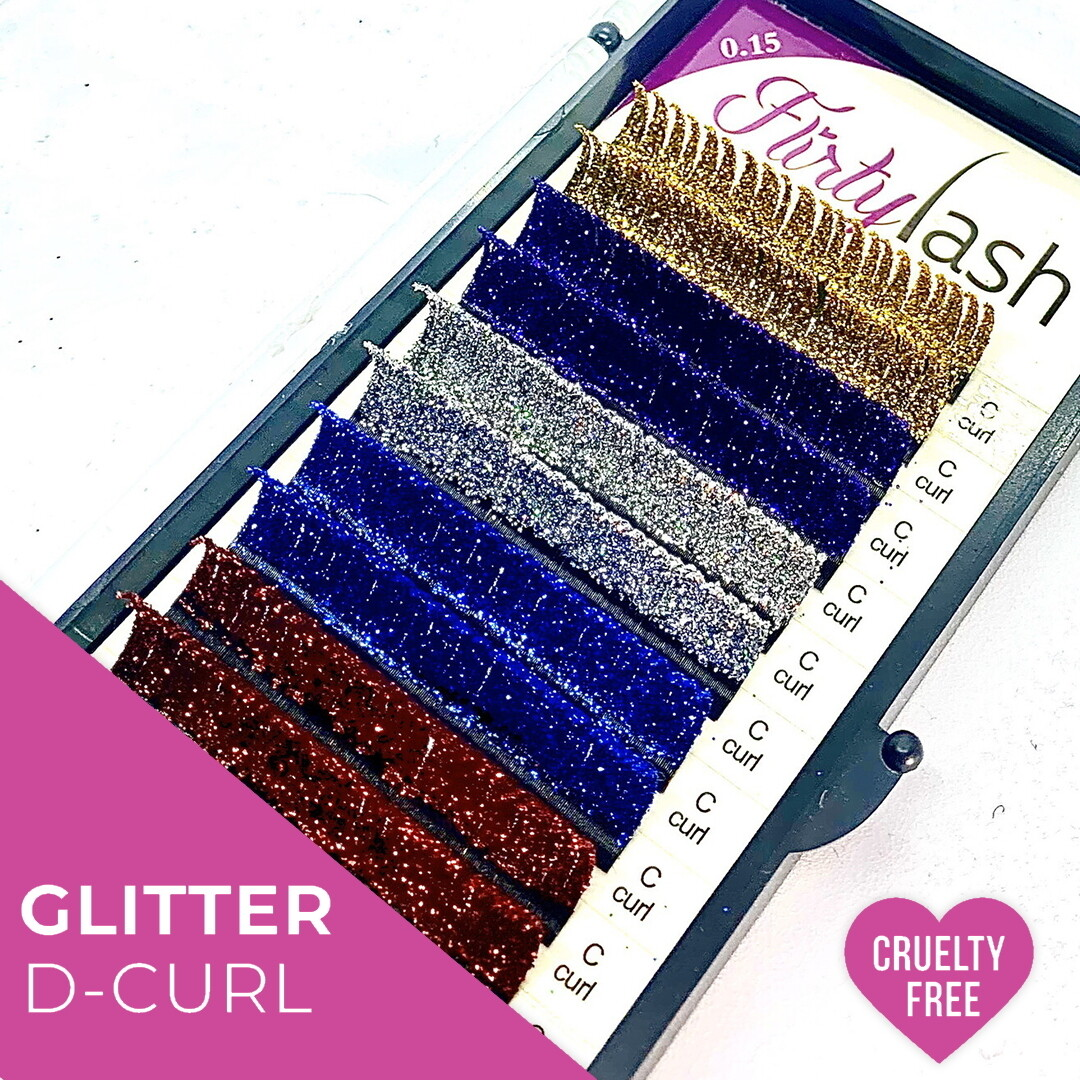 Glitter Lashes D curl, .15, 13mm
