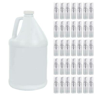 1 Gallon Foaming Lash Cleanser and Bottles