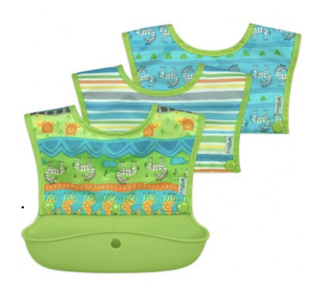 Green Sprouts Snap & Go Silicone Food Catcher Bib