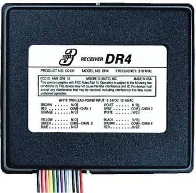 Linear DR4 Four Channel Garage Door Receiver