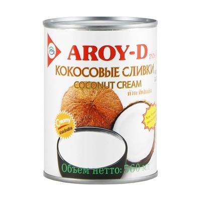 Кокосовые сливки, жирность 21%, АРОЙ Д, жесть 560мл