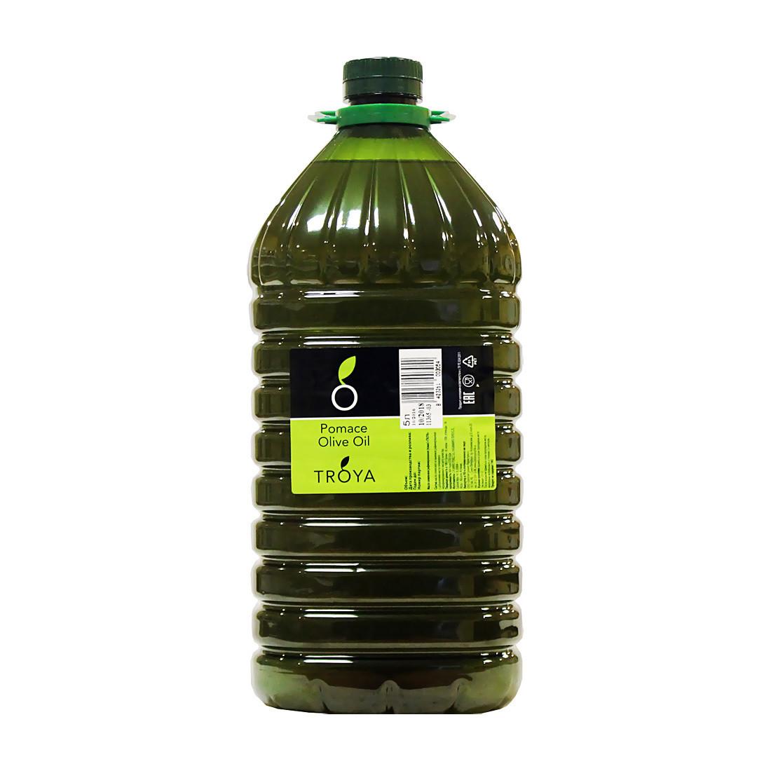 Масло оливковое помас (второй отжим), ТРОЯ, 5л