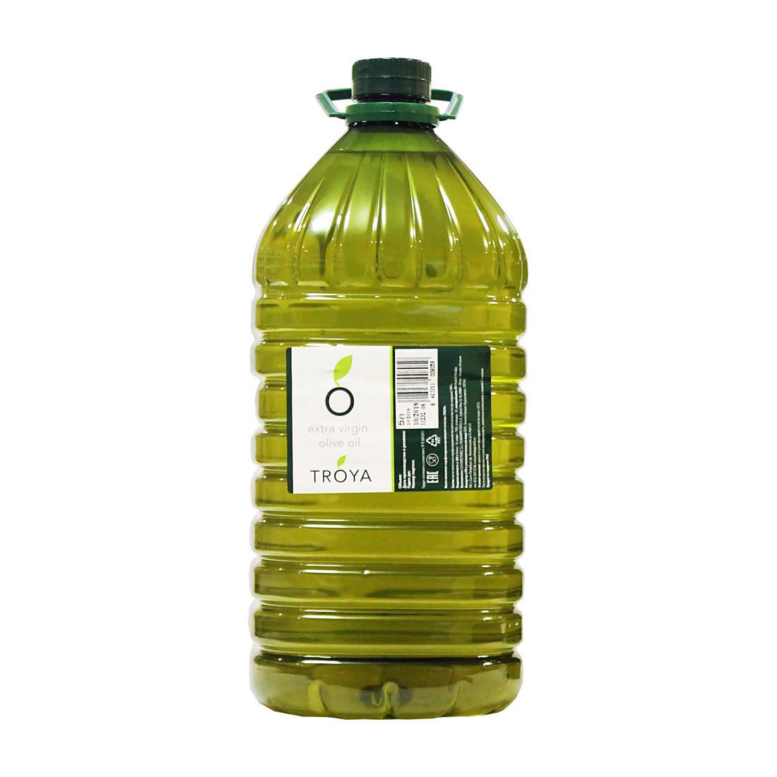 Масло оливковое экстра-верджин (extra virgin), ТРОЯ, 5л
