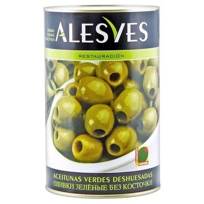 Оливки зеленые б/к (калибр 280-320), АЛЕСВЕС, 4кг